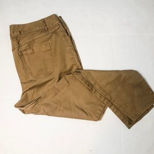 Lane Bryant tan slim fit pants sz 20